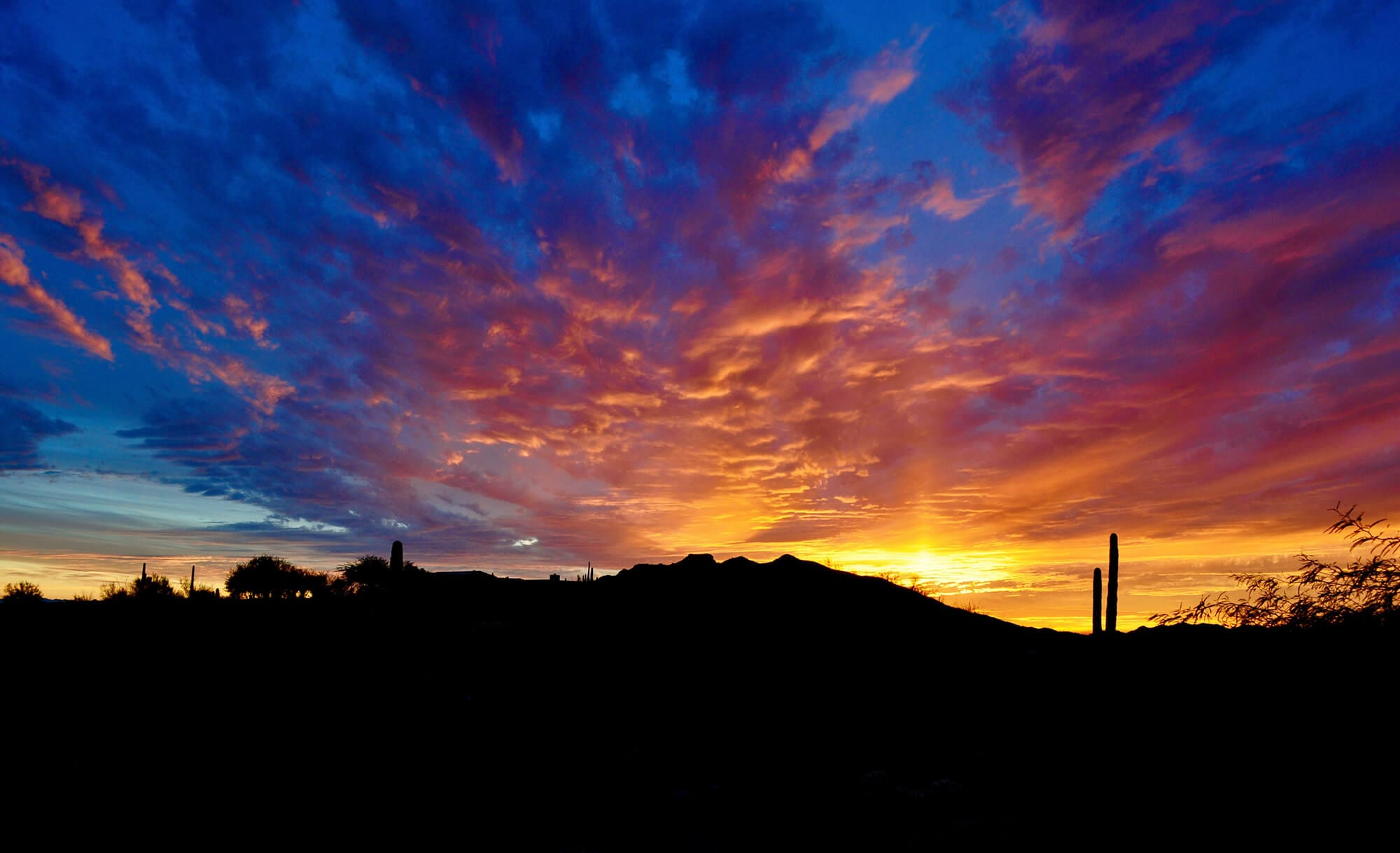 Arizona sunset over Black Mountain